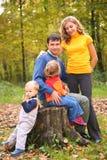 aut dzieci rodzice siedzą karcz Zdjęcie Royalty Free