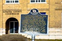 Autauga County historic marker Stock Image