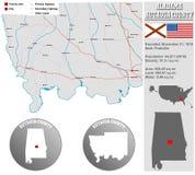 Autauga okręg administracyjny w Alabama Obraz Stock