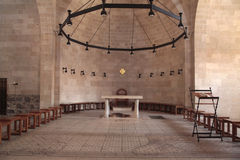 Autel à l'église de la multiplication, Tabgha, Israël photographie stock libre de droits