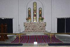 Autel à l'église du ` s de St John, Dalhousie, Himachal Pradesh, Inde Images libres de droits