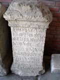 Autel antique de Romains Photos libres de droits