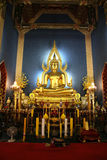 Autel bouddhiste dans le temple Images libres de droits