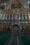 Autel dans la cathédrale d'Iversky Image stock