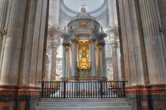 Autel de cathédrale de Cadix Images libres de droits