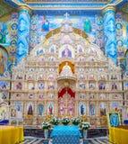 Autel de cathédrale de transfiguration Photographie stock libre de droits