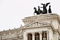 Autel de la patrie ou du Vittoriano dans Piazza Venezia ? Rome photo stock