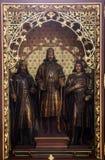 Autel des saints Stephen, Ladislav et Emeric dans la cathédrale de Zagreb Photo libre de droits