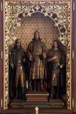 Autel des saints Stephen, Ladislav et Emeric dans la cathédrale de Zagreb Photographie stock libre de droits
