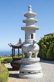 Autel et encensoir dans le temple chinois, Australie images stock