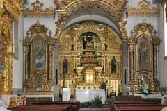 Autel portugais d'église Images libres de droits