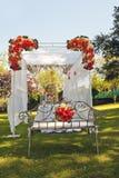 Autel pour le jour du mariage Photographie stock