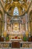 Autel principal dans l'église du ` Orto de vallon de Santa Maria, à Rome, l'Italie Images stock