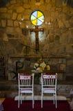 Autel romantique pour des mariages image stock