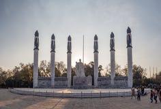 Autel une La Patria en parc colonial de château de Chapultepec, colline Photographie stock