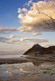 Autemn che pesca sera nuvolosa Fotografia Stock