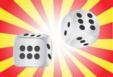 Autentic casino dice Stock Photo