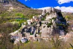 Autentic traditional places of Italy - Cerro al Volturno with im Stock Photo
