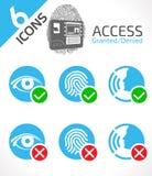 Autenticazione biometrica di identificazione illustrazione vettoriale