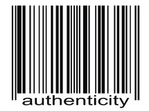 Autenticidade do código de barra Foto de Stock Royalty Free