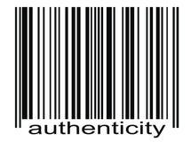 Autenticità di codice a barre Fotografia Stock Libera da Diritti