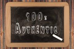 100% autentico - lavagna immagine stock