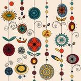 autentisk designprydnadvektor royaltyfri illustrationer