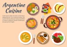 Autentisk disk av argentine kokkonst vektor illustrationer