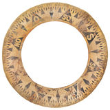 Autentisk forntida cirkel för skeppkompasspapper som används för navigering Royaltyfria Bilder