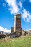 Autentisk hög-berg by i dalen arkivfoton