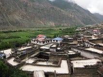 Autentisk Himalayan by Marpha Arkivfoto