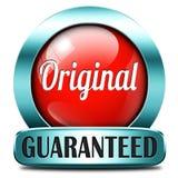 Autentisk kvalitets- produkt för original- etikett royaltyfria foton