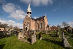 Autentisk kyrka på ön av Terschelling i Nederländerna Arkivfoto