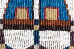 autentisk prydd med pärlor indisk deltextur för krage Arkivbild