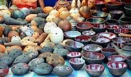 Autentisk ukrainsk krukmakeri Arkivfoto