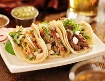 Autentiska mexikanska taco Fotografering för Bildbyråer