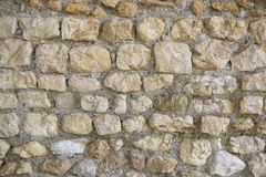 Autentiska roman stentegelstenar för textur Royaltyfri Foto