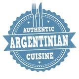 Autentiskt argentinian kokkonsttecken eller stämpel stock illustrationer