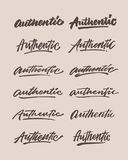 Autentiskt förgrova uttrycket för typografi för tappninghandbokstäver Royaltyfri Foto