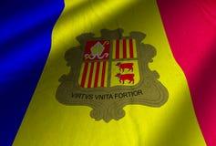 Autentyczna Andorra flaga Zdjęcia Royalty Free