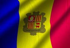 Autentyczna Andorra flaga Obrazy Stock