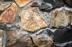 Autentyczna antyczna Średniowieczna kamiennej ściany tekstura Fotografia Stock