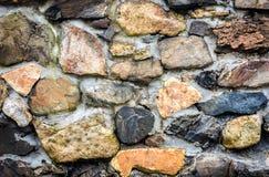 Autentyczna antyczna Średniowieczna kamiennej ściany tekstura Zdjęcia Royalty Free