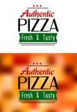 Autentyczne pizz etykietki Obraz Royalty Free