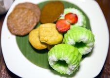 Autentyczni Bali cukierki od ryżowej mąki mała głębia ciętość zdjęcia stock