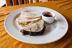Autentyczni meksykańscy quesadillas zdjęcia stock