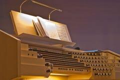 autentyczny instrumentu muzyki organ Fotografia Royalty Free