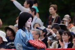 Autentyczny Kimonowy kostium przy Jidai Matsuri paradą, Japonia Zdjęcie Royalty Free