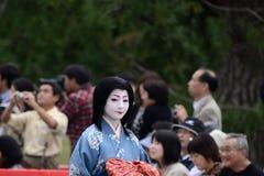 Autentyczny Kimonowy kostium przy Jidai Matsuri paradą, Japonia Obraz Stock