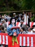Autentyczny Kimonowy kostium przy Jidai Matsuri paradą, Japonia Obraz Royalty Free